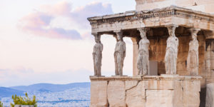 Detail,Of,Erechtheion,In,Acropolis,Of,Athens,,Greece